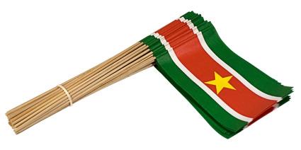 Vlaggetje Papier Suriname