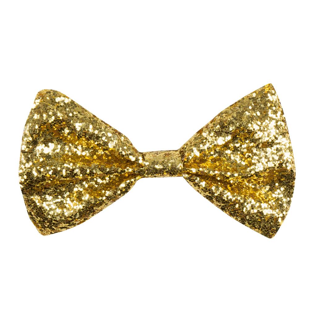 Vlinderstrik Goud Glitter