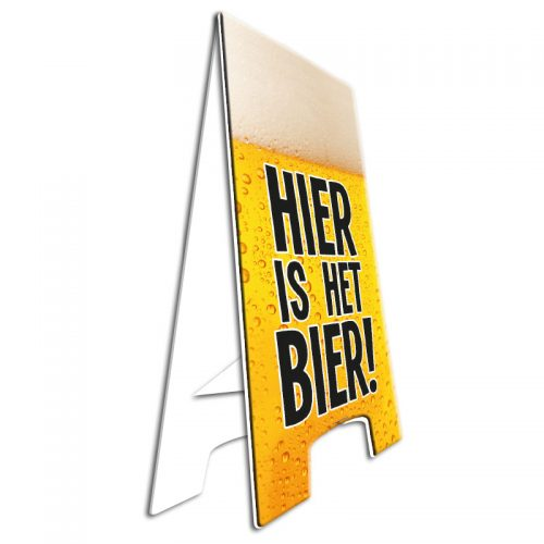 Warning Sign Hier is het Bier!
