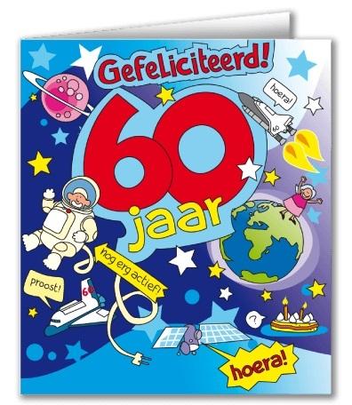 Wenskaart 28-Cartoon 60 jaar