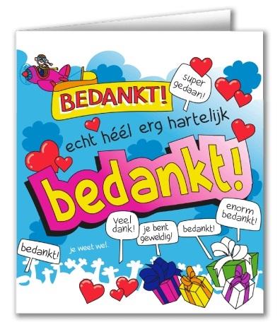 Wenskaart 39-Cartoon Bedankt