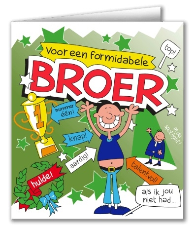 Wenskaart 36-Cartoon Broer