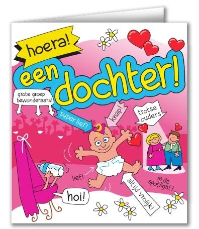 Wenskaart 43-Cartoon Dochter