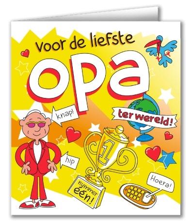 Wenskaart 34-Cartoon Opa