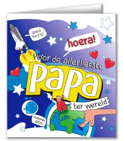 Wenskaart 32-Cartoon Papa