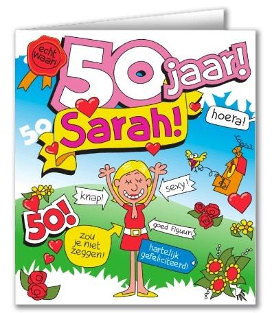 Wenskaart 27-Cartoon Sarah