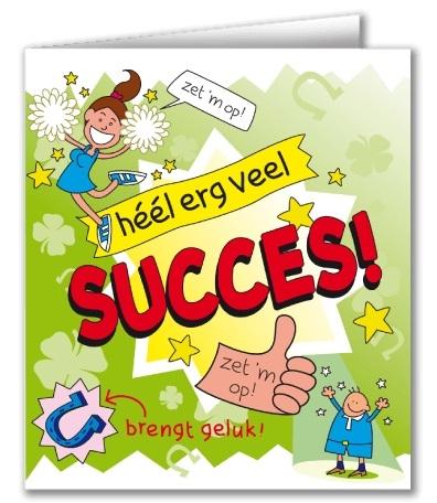 Wenskaart 41-Cartoon Succes