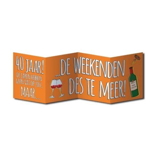 Wenskaart Surprise 40 Jaar Weekend