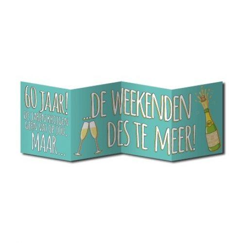 Wenskaart Surprise 60 Jaar Weekend