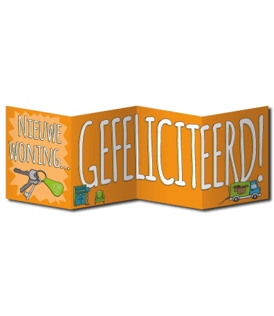 Wenskaart Surprise Nieuwe Woning