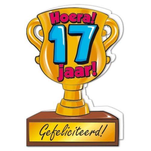 Wenskaart 17-Trofee 17 jaar