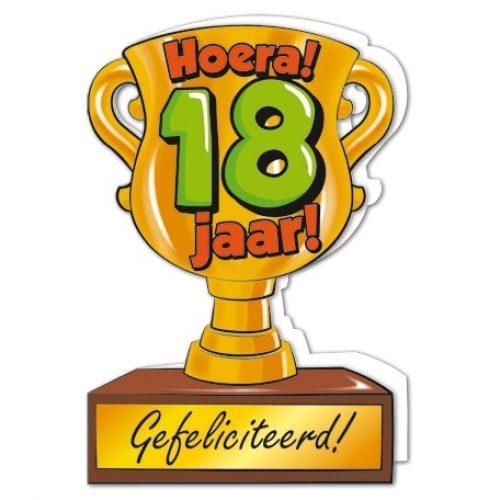 Wenskaart 18-Trofee 18 jaar