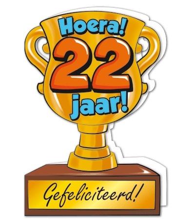 Wenskaart 22-Trofee 22 jaar
