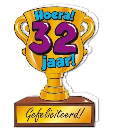 Wenskaart 32-Trofee 32 jaar