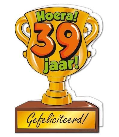 Wenskaart 39-Trofee 39 jaar