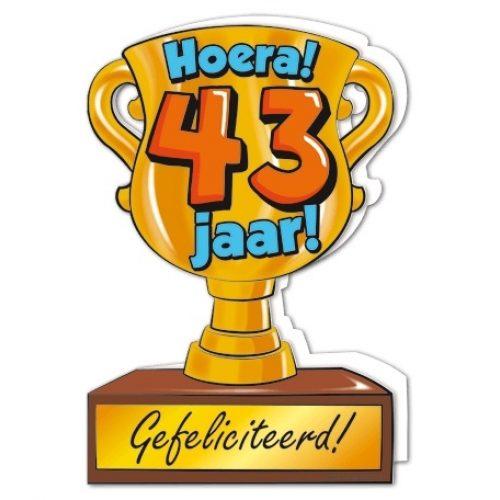 Wenskaart 43-Trofee 43 jaar