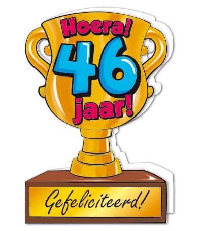 Wenskaart 46-Trofee 46 jaar