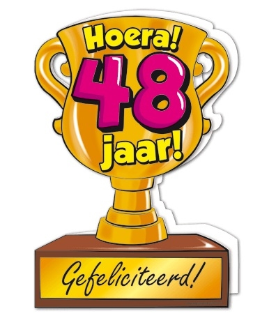 Wenskaart 48-Trofee 48 jaar