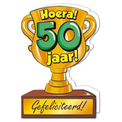 Wenskaart 50-Trofee 50 jaar