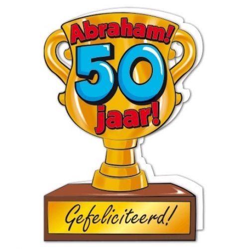 Wenskaart 101-Trofee 50 jaar Abraham