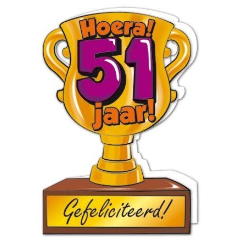 Wenskaart 51-Trofee 51 jaar