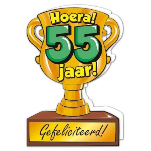 Wenskaart 55-Trofee 55 jaar