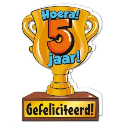 Wenskaart 05-Trofee 5 jaar