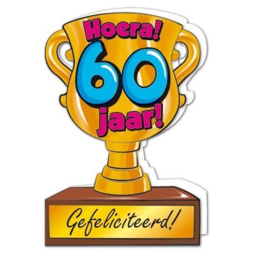 Wenskaart 60-Trofee 60 jaar
