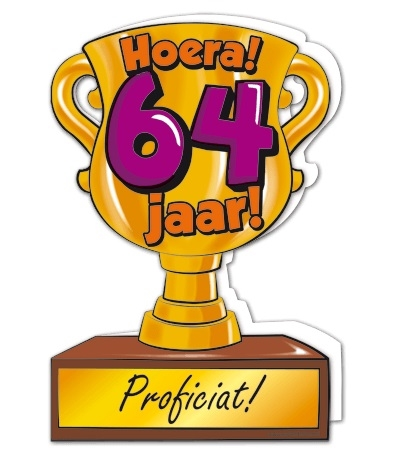 Wenskaart 64-Trofee 64 jaar