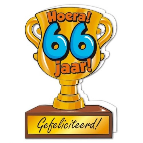 Wenskaart 66-Trofee 66 jaar