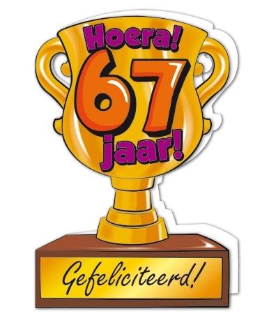 Wenskaart 67-Trofee 67 jaar