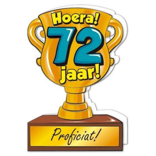 Wenskaart 72-Trofee 72 jaar