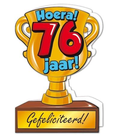 Wenskaart 76-Trofee 76 jaar