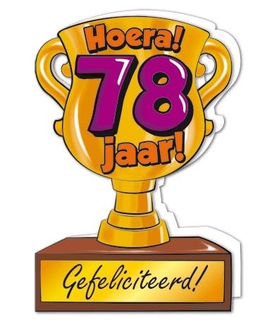 Wenskaart 78-Trofee 78 jaar