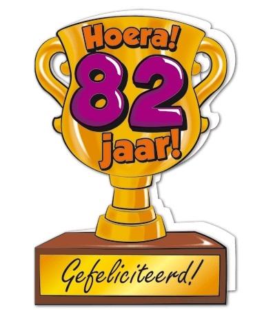 Wenskaart 82-Trofee 82 jaar