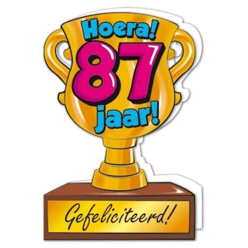 Wenskaart 87-Trofee 87 jaar