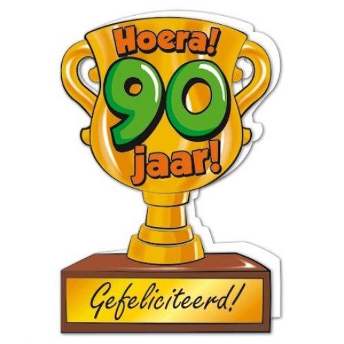 Wenskaart 90-Trofee 90 jaar