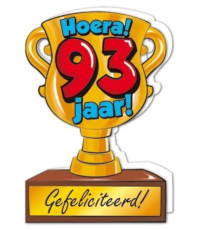 Wenskaart 93-Trofee 93 jaar