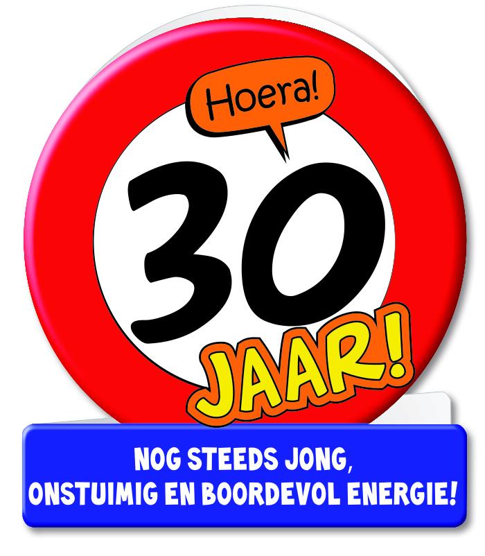 Wenskaart 06-Verkeersbord 30 jaar
