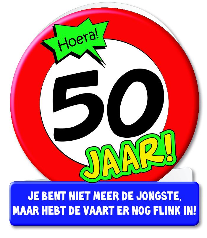 Wenskaart 08-Verkeersbord 50 jaar