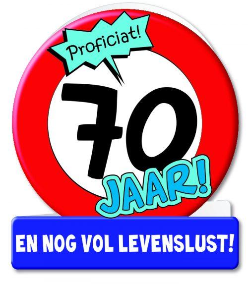 Wenskaart 13-Verkeersbord 70 jaar