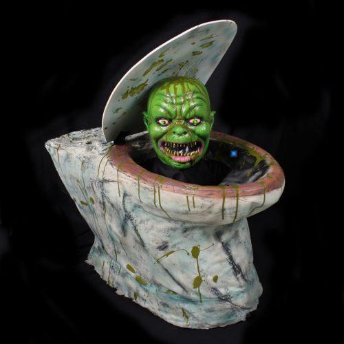 Bewegende Zombie Toilet met Licht+Geluid