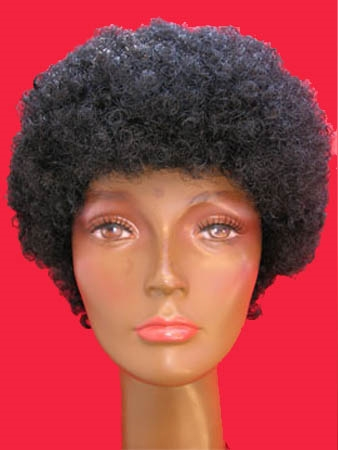 Zwarte Piet Pruik Afro (gr.mont) Zwart