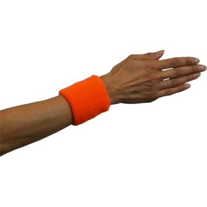 Zweetbandjes Fluor/Neon Oranje 2stuks