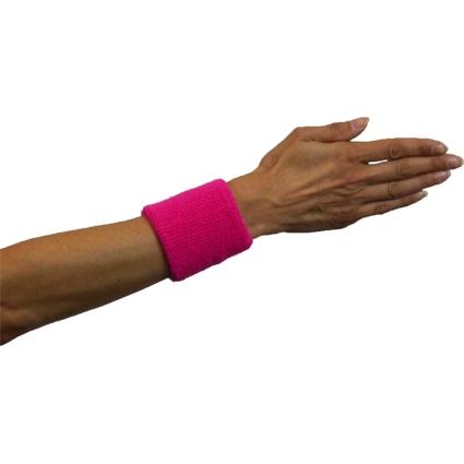 Zweetbandjes Fluor/Neon Roze 2stuks