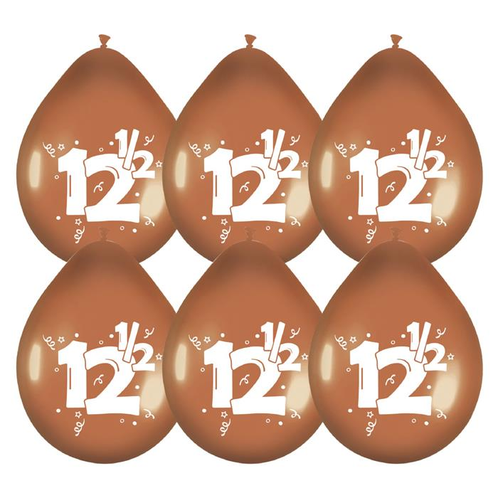 """6st Ballonnen 12,5 Jaar Brons 12"""""""