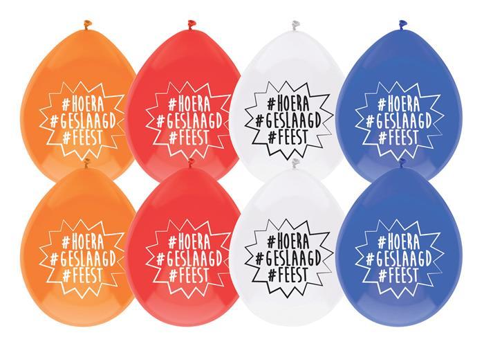 """8st Ballonnen #Hoera #Geslaagd #Feest 12"""""""