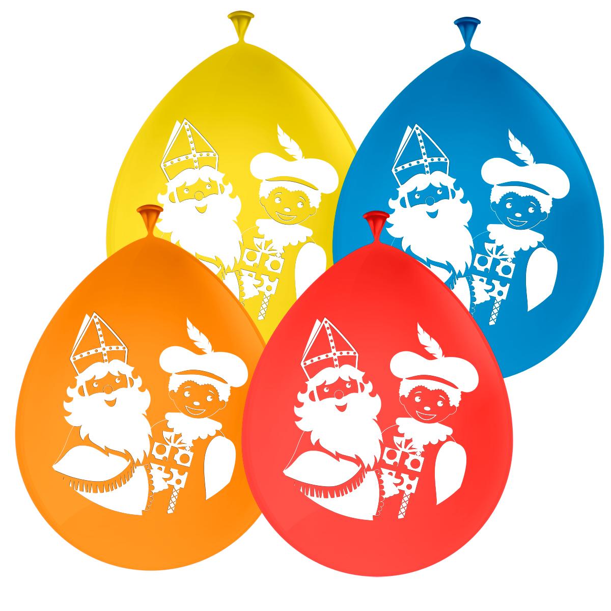 """8st Ballonnen Sint & Piet 12"""""""
