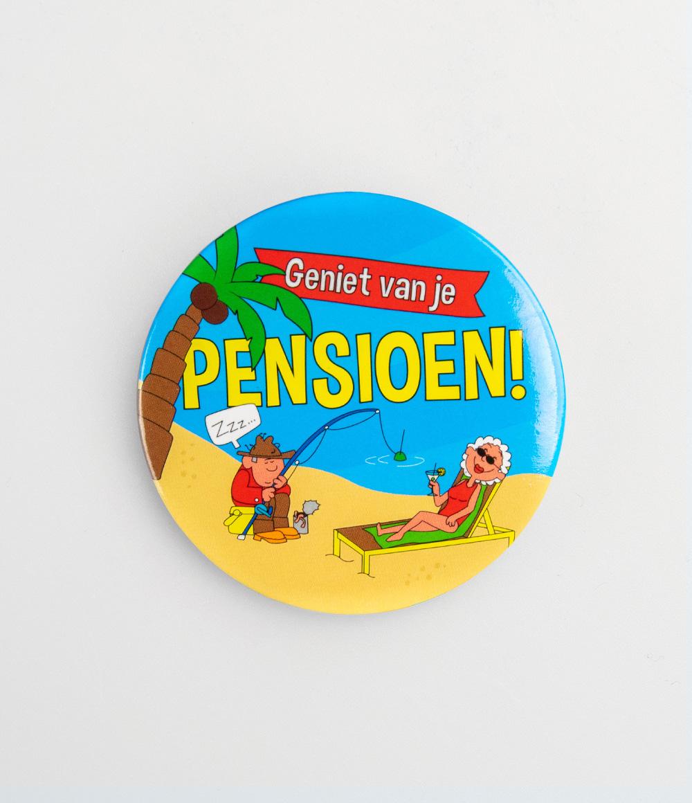 Button Geniet van je Pensioen