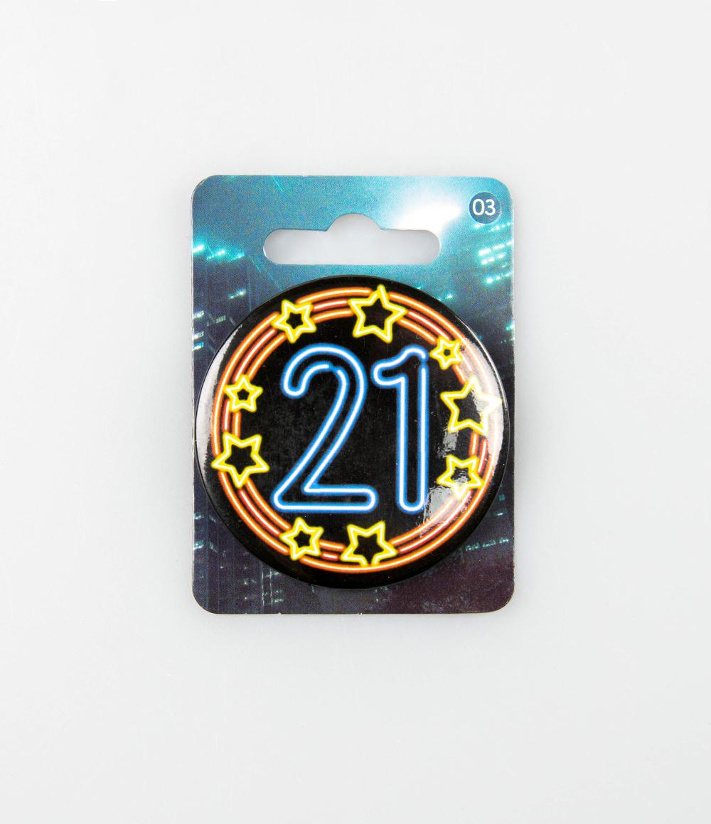 Button Neon 21 5.5cm